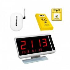 Комплект системы вызова помощи ТИФЛОВЫЗОВ ПС-1999 с антивандальной и тактильно-сенсорной кнопкой желтого цвета