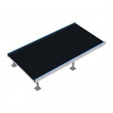 Пандус-конструктор площадка предповоротная с настилом из резинового покрытия 1800х940х80 мм