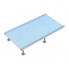 Пандус-конструктор площадка предразворотная с противоскользящим покрытием из рифлёного алюминия 1800x940x80 мм