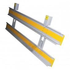 Пандус-слайдер одноколенный с противоскользящим покрытием сталь 3 мм