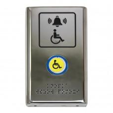 Антивандальная кнопка вызова с сенсорной зоной активации из нержавеющей стали AISI 304 180x110x30 мм
