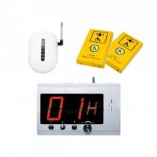 Комплект системы вызова помощи ТИФЛОВЫЗОВ ПС-1099 с двумя антивандальными кнопками желтого цвета