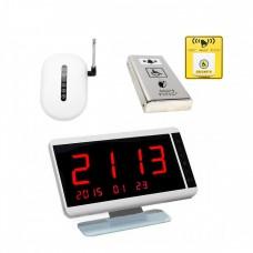 Комплект системы вызова помощи ТИФЛОВЫЗОВ ПС-1999 с антивандальной нержавеющей кнопкой и тактильно-сенсорной кнопкой желтого цвета
