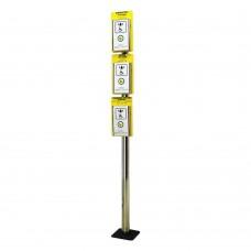 Стойка D50 мм для крепления 3-х антивандальных кнопок