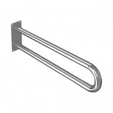 Поручень опорный для санузла, без откидного механизма, пристенный, нержавеющая сталь, D38 мм