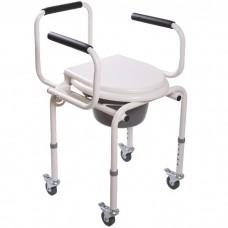Кресло-туалет Мега-Оптим FS813 на 4-х колесах