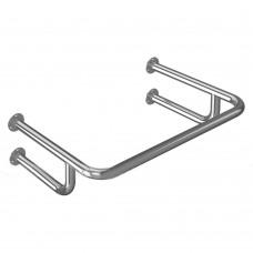 Поручень опорный для раковины, пристенный, усиленный, тип 1, нержавеющая сталь, D38 мм