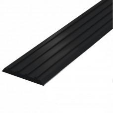 Лента тактильная направляющая ПВХ (черная) 3х29х1000 мм