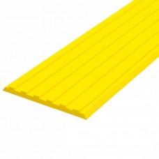 Лента тактильная направляющая ПУ (желтая) 3х50х1000 мм