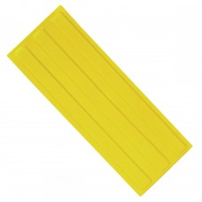 Плитка тактильная (направление движения, зона получения услуг) ПВХ (желтая) 180х500х4 мм