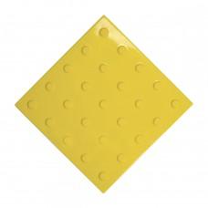 Плитка тактильная (преодолимое препятствие, поле внимания, конусы линейные) ПВХ (желтая) 300х300х4 мм