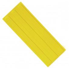 Плитка тактильная (направление движения, зона получения услуг) ПУ (желтая) 180х500х4 мм