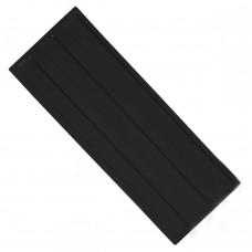 Плитка тактильная (направление движения, зона получения услуг) ПУ (черная) 180х500х4 мм