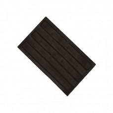 Плитка тактильная (направление движения, зона получения услуг) ПУ (черная) самоклеящаяся 180х300х4 мм