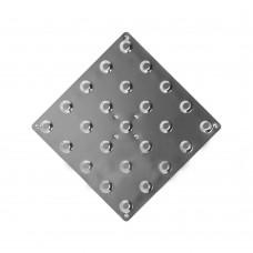 Плитка тактильная (преодолимое препятствие, конусы линейные) 300х300х7 мм