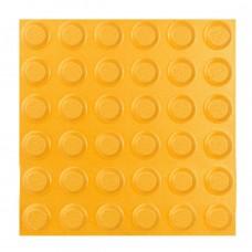 Плитка тактильная керамогранит (конусы линейные) 2 категория (желтая) 300х300 мм