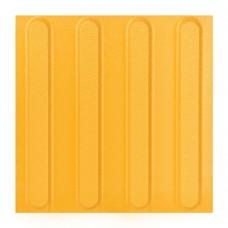 Плитка тактильная керамогранит (полоса) 2 категория (желтая) 300х300 мм