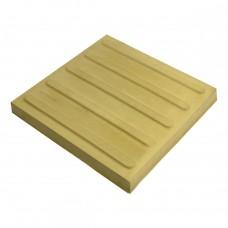 Плитка тактильная (направление движения, полоса) бетон (жёлтая) 300х300х35 мм