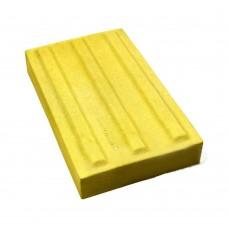 Плитка тактильная (направление движения, зона получения услуг) бетон (желтая) 180х300х50 мм