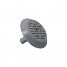 Конус тактильный со штифтом (5x20 мм) рифление-насечка (преодолимое препятствие, непреодолимое препятствие) ПВХ (серый) 35x35x25 мм