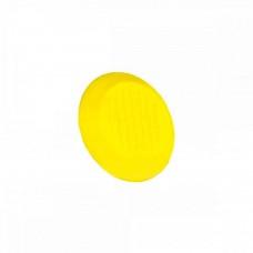 Конус тактильный без штифта рифление-насечка (преодолимое препятствие, поле внимания, непреодолимое препятствие) ПВХ (жёлтый) 35x35x5 мм