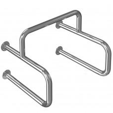 Поручень опорный для писсуара (четыре точки крепления) AISI304 490x600x530 мм