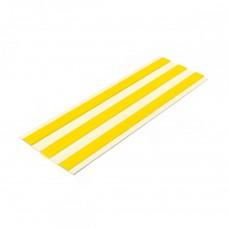 Лента тактильная направляющая ПВХ (3 желтые полосы на белой основе) самоклеящаяся 4х180 мм