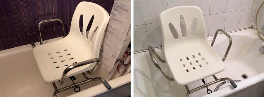 Поворотное сиденье для ванны для пожилых людей