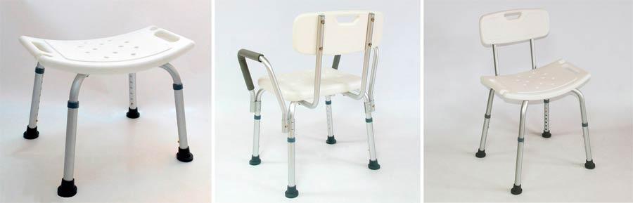 Типы стульев для ванны для пожилых людей