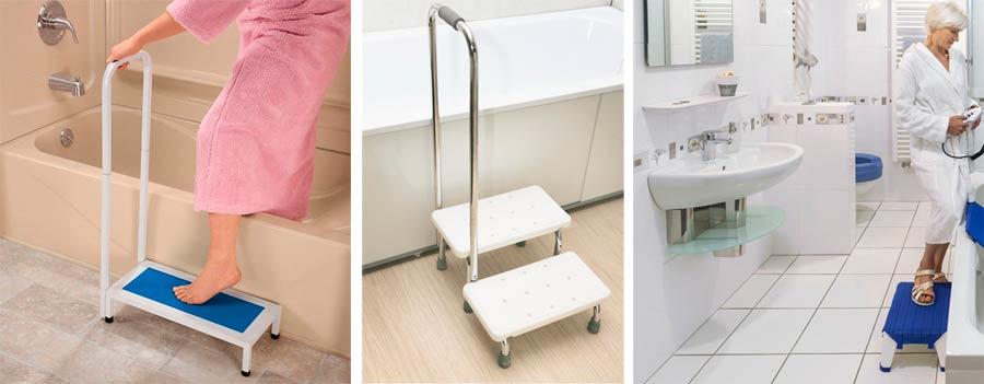 Вспомогательные ступеньки для перемещения в ванну